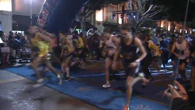 Downtown LA night race draws thousands of runners
