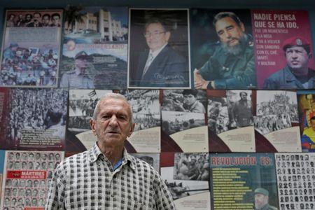 Alejandro Ferras Pellicer, a veteran of the 1953 assault on the Moncada military barracks, is seen in Havana