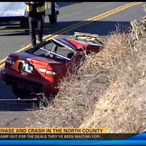 Wild chase and crash in North County