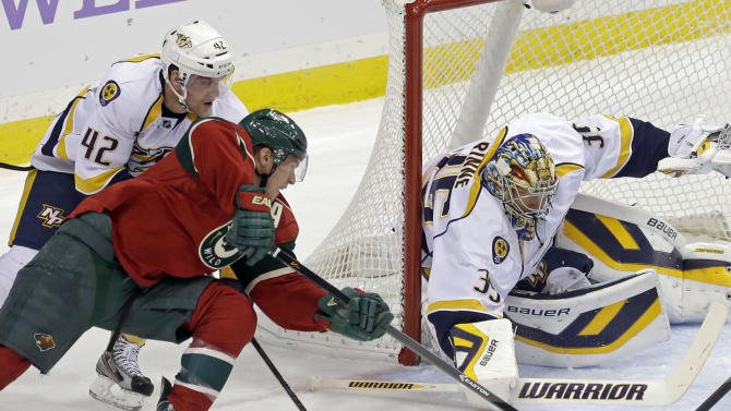 Harding earns shutout; Wild beat Predators 2-0
