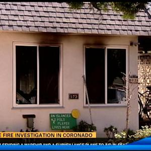 House fire investigation in Coronado