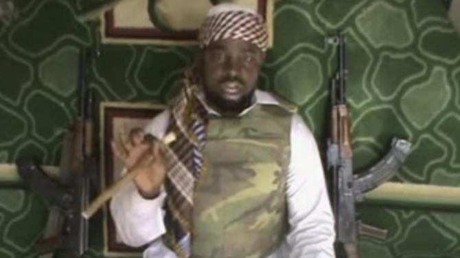 FILE: This file image made available from Wednesday, Jan. 10, 2012,  taken from video posted by Boko Haram sympathizers shows the leader of the radical Islamist sect Imam Abubakar Shekau. The video of Imam Abubakar Shekau cements his leadership in the sect known as Boko Haram.  Now, Boko Haram seems to be growing ever-stronger, killing more people than ever before and slowly internationalizing their outlook, a possible danger for the rest of West Africa. More than 770 people have been killed in Boko Haram attacks so far this year, according to an Associated Press count, making 2012 the worst year of violence attributed to the group.(AP Photo, FIle ) THE ASSOCIATED PRESS CANNOT INDEPENDENTLY VERIFY THE CONTENT, DATE, LOCATION OR AUTHENTICITY OF THIS MATERIAL