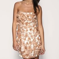 Asos nude sequin dress, $101.50.