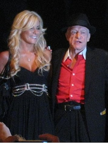 Crystan Harris and Hugh Hefner in 2009.