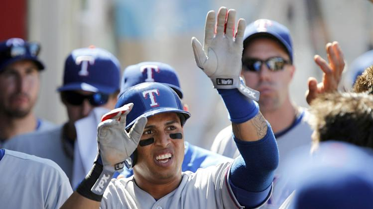 Rios, Andrus lead Rangers over Angels 4-3