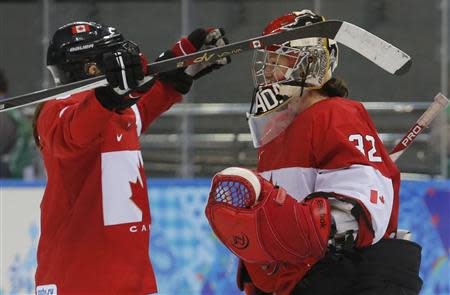their women's ice hockey game at the Sochi 2014 Winter Olympic Games