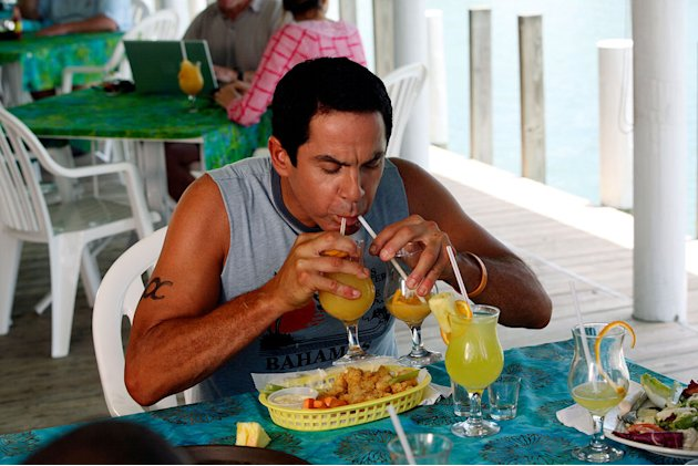 "Todd enjoys the cocktails in the Bahamas in the second of a two-part episode of ""Scrubs."""