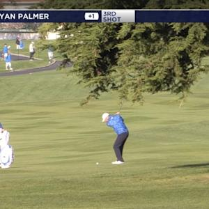 Ryan Palmer hits approach to a foot at AT&T Pebble Beach