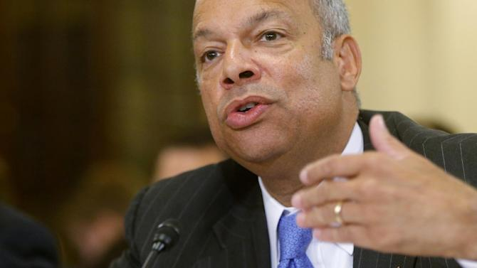 In this June 24, 2014, file photo, Homeland Security Secretary Jeh Johnson testifies on Capitol Hill in Washington. Johnson is ordering increased security measures at some overseas airports offering direct flights to the United States. The Homeland Security Department would not immediately say July 2 whether the increased measures were in response to intelligence about a specific threat. But a U.S. counterterrorism official says American intelligence has seen indications that certain terrorist groups in Yemen and Syria are working on a bomb that could make it through airport security undetected. (AP Photo/Charles Dharapak, File)