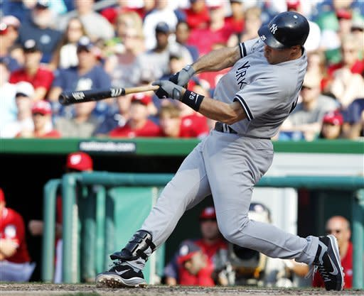 Teixeira, Yanks beat Nats in 14th, win 8th in row