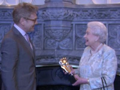 Raw: Queen Elizabeth II Honored by BAFTA Stars