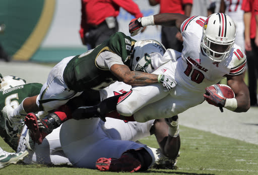 Bridgewater, No. 18 Louisville roll past USF