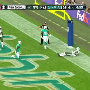 Dolphins quarterback Ryan Tannehill picked off by Darrelle Revis