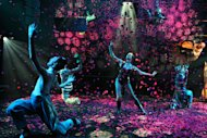 "In this theater image released by The Publicity Office, Bebe Neuwirth, center, performs in ""A Midsummer Night's Dream,"" in New York. (AP Photo/The Publicity Office, Joan Marcus)"