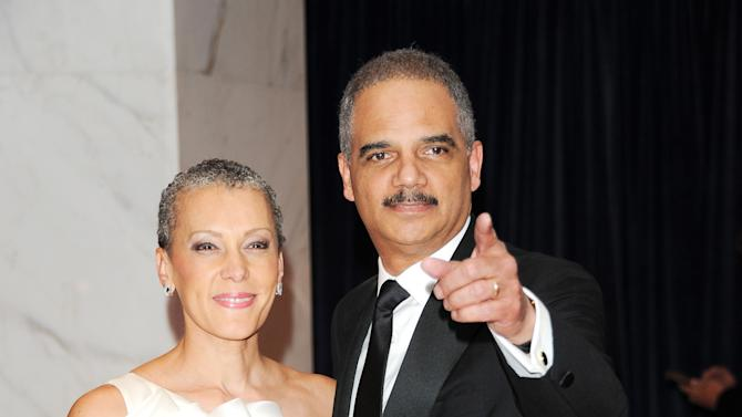 Attorney General Eric Holder and his wife Sharon Malone Holder attend the White House Correspondents' Dinner at the Washington Hilton on Saturday April 27, 2013 in Washington. (Photo by Evan Agostini/Invision/AP)
