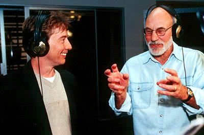 Martin Short is the voice of Ooblar and Patrick Stewart is the voice of King Goobot in Jimmy Neutron: Boy Genius