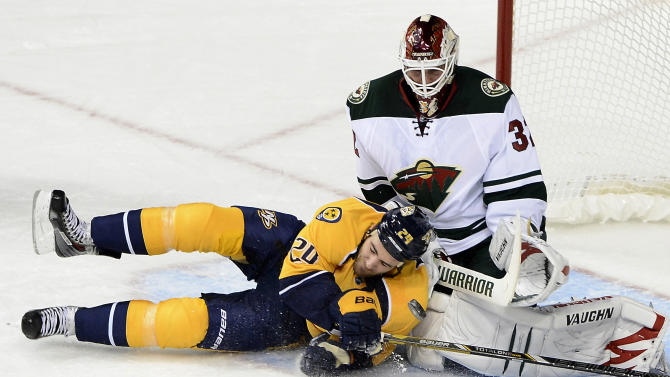 Predators beat Wild 3-2 for 1st win this season