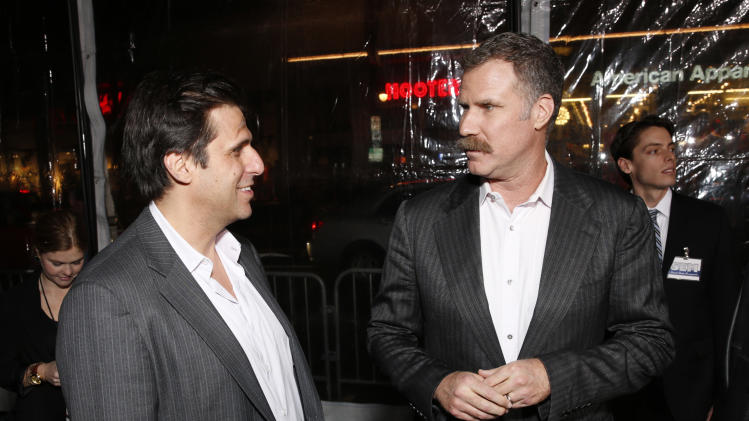 """President of MGM Jonathan Glickman and Producer Will Ferrell attend the premiere of """"Hansel & Gretel Witch Hunters"""" on Thursday Jan. 24, 2013, in Los Angeles.  (Photo by Todd Williamson/Invision/AP)"""