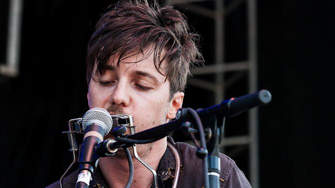 Michael Trent, of the band Shovels & Rope, performs during the inaugural Shaky Knees Music Festival on Sunday, May 5, 2013, in Atlanta. (AP Photo/Ron Harris)