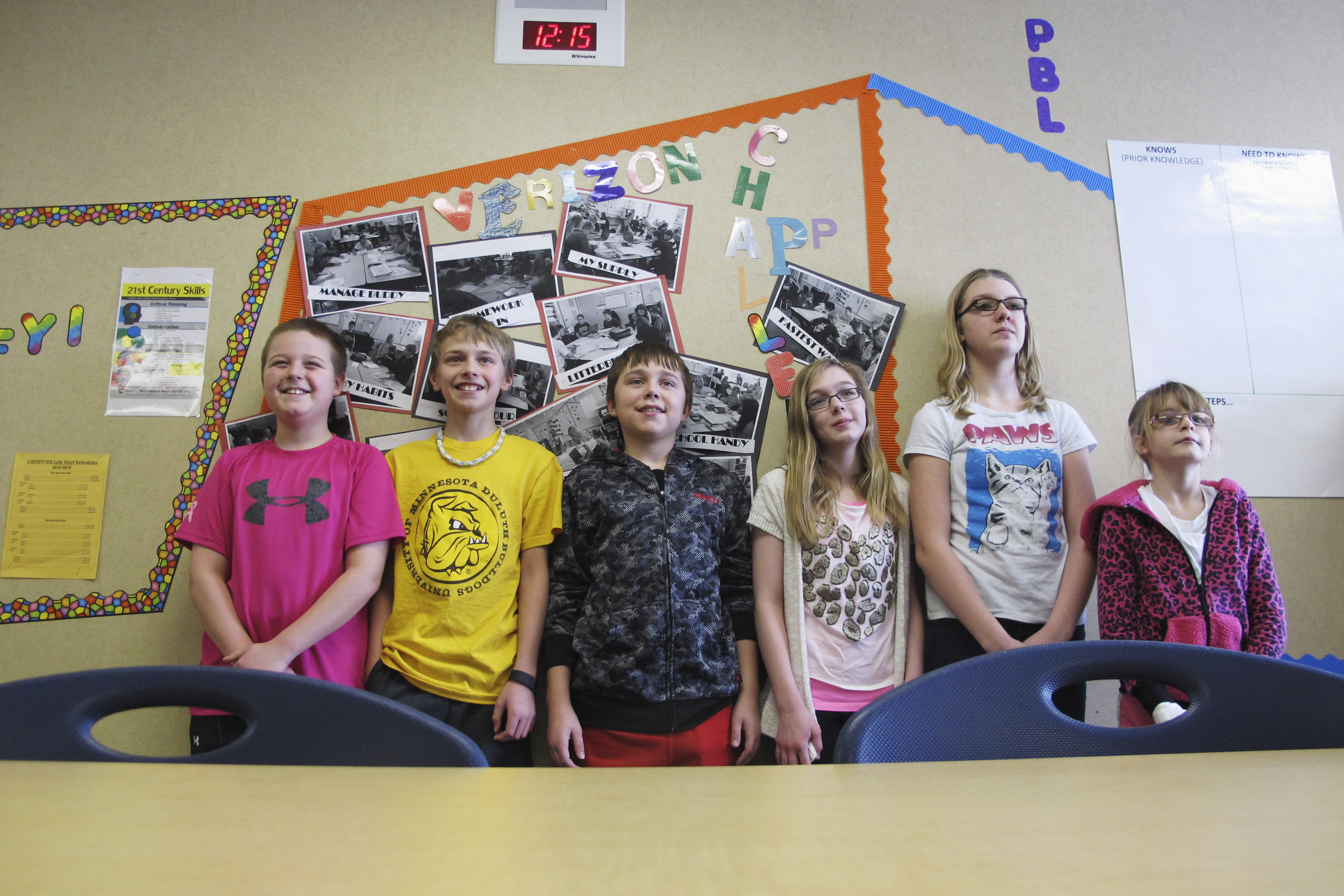 West Fargo 6th-graders build app to help class start on time