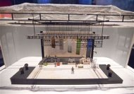 "A stage model for the I, Outside tour by Gary Westcott (1995) is seen at the ""David Bowie is"" Exhibition at the Victoria and Albert Museum in London March 20, 2013. REUTERS/Neil Hall"
