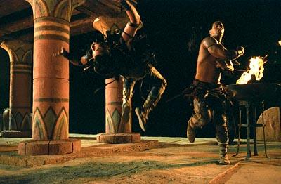 Steven Brand and The Rock in Universal's The Scorpion King