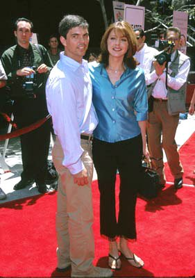 Jane Leeves and husband at the Westwood premiere of 20th Century Fox's Star Wars: Episode I