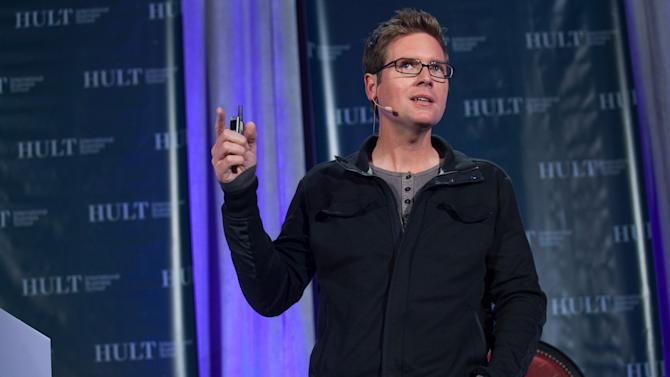 IMAGE DISTRIBUTED FOR HULT INTERNATIONAL BUSINESS SCHOOL - Biz Stone,  co-founder of Twitter, Inc, speaks at Hult International Business School's Executive Speaker Series in San Francisco, CA on Tuesday, Oct. 16, 2012. (Ryan Anson/AP Images for Hult International Business School)
