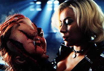 Chucky and Jennifer Tilly in Universal's Bride Of Chucky