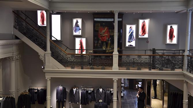 The main showroom is seen at Gieves and Hawkes Savile Row headquarters in London