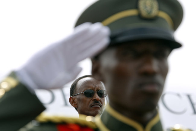 Kagame soldier