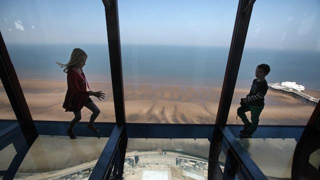 Blackpool tower kids