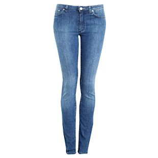Blue Flex Atlantis Mid-Rise Skinny Jeans Acne: What To Wear: Weekend