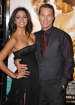 Matthew McConaughey and girlfriend Camilla Alves at the Hollywood premiere of Warner Bros. Pictures' Fool's Gold