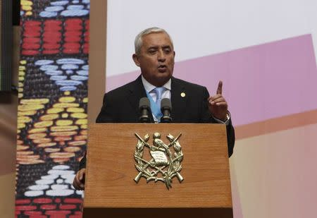 Guatemala's President Perez Molina gives his annual state of the union address in Guatemala City
