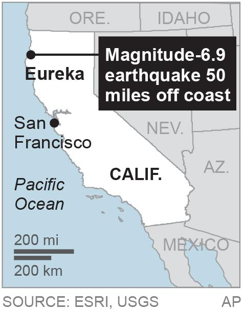 Powerful quake shakes N. California; no injuries