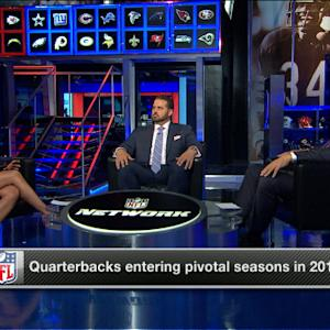 Which NFL quarterbacks are entering pivotal seasons in 2014?