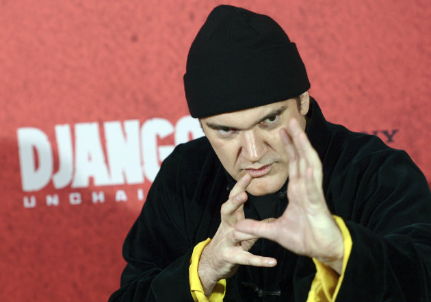 Quentin Tarantino has launched his movie Django Unchained in Germany