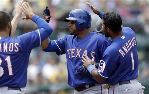 Cruz hits 3-run homer to lead Rangers past A's 6-2