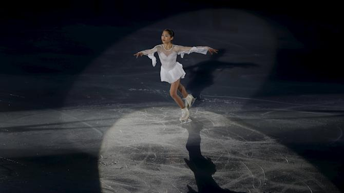 Miyahara of Japan performs during the gala exhibition at the ISU Grand Prix of Figure Skating in Nagano