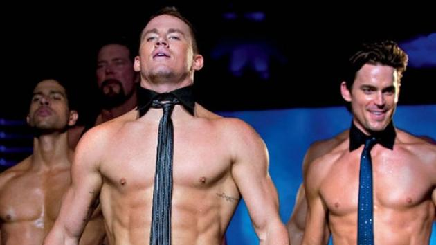 Channing Tatum and Matt Bomer in a scene from 'Magic Mike' -- Warner Bros.