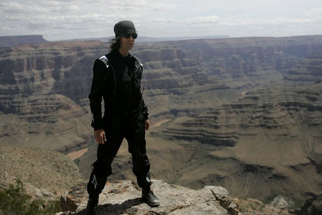 "Criss Angel at the Grand Canyon during the filming of season six of ""Criss Angel Mindfreak."""