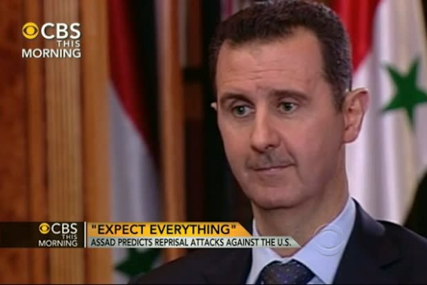 Syrian President Warns Charlie Rose During Interview to 'Expect Everything' If America Strikes (Video)
