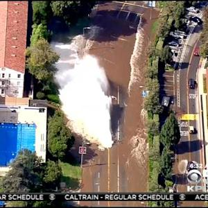 LA Cleaning Up After Massive Rupture Forced Swift Boat Rescues On UCLA Campus