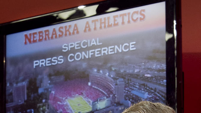 FILE - In this Oct. 8, 2010 file photo, Nebraska athletic director and former football coach Tom Osborne discusses plans for the expansion of Memorial Stadium and other university facilities at a news conference in Lincoln, Neb. Osborne will retire as Nebraska's athletic director on Jan. 1, 2013, and end an association with the university that began in 1962. AP Photo/Nati Harnik, File)