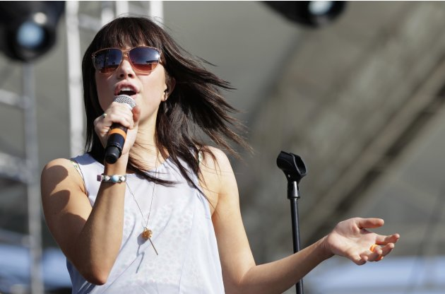 Singer Jepsen performs at the 2012 Wango Tango concert at the Home Depot Center in Carson