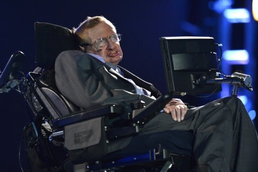 Stephen Hawking appears during the opening ceremony of the London 2012 Paralympic Games on August 29, 2012. Hawking has decided to pull out of a June conference hosted by Israel's President Shimon Peres, event organisers said on Wednesday.