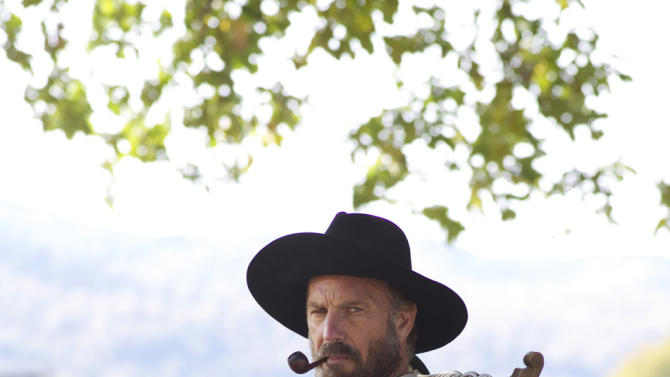 This undated image released by History shows Kevin Costner portraying Devil Anse Hatfield from the History network's miniseries