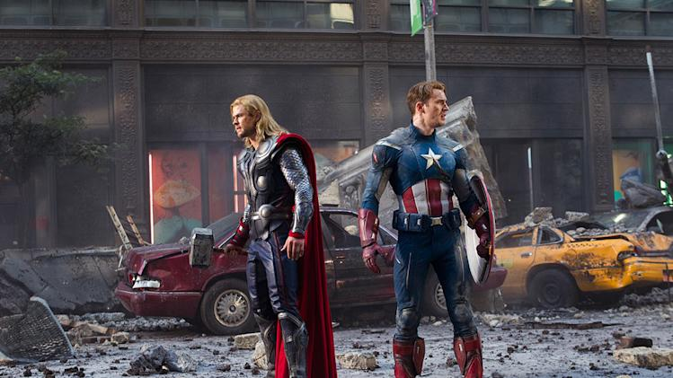 The Avengers 2012 Marvel Chris Hemsworth Chris Evans