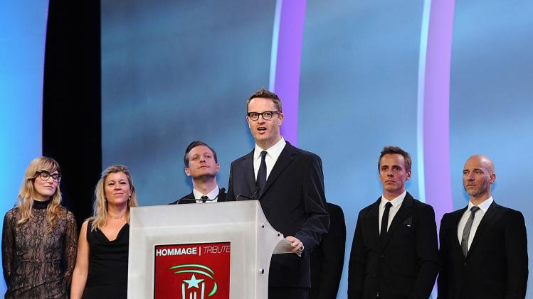 Danish director Nicolas Winding Refn speaks during Tribute To Scandinavian Cinema during 13th Marrakech International Film Festival in Marrakech